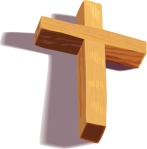 Wooden 3D Cross with Shadow